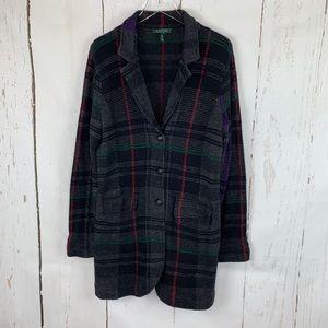 Lauren Ralph Lauren   Tartan Plaid Cardigan Jacket